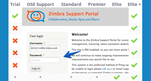 Zimbra support